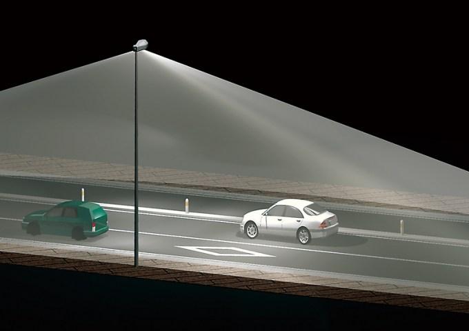 PAZU パンフレット用3Dイメージ 照明器具の照射範囲