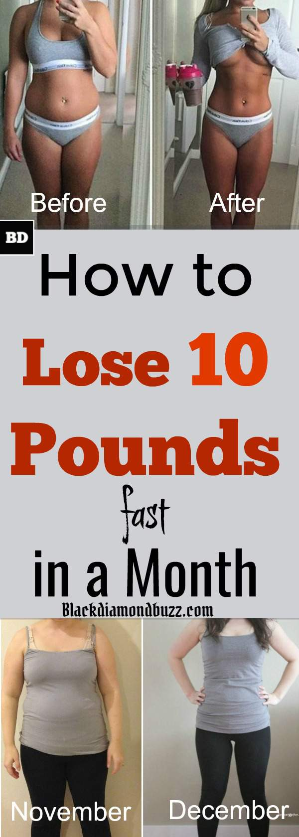 How to Lose 10 Pounds in a Month Naturally - Healthy Weight Loss Plan