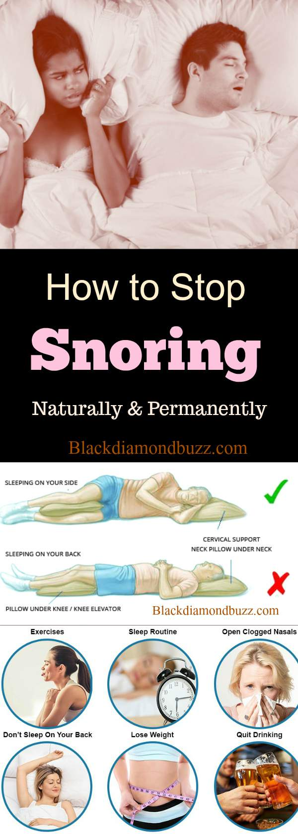 How to Stop Snoring Naturally and Permanently- 12 Solutions that Work
