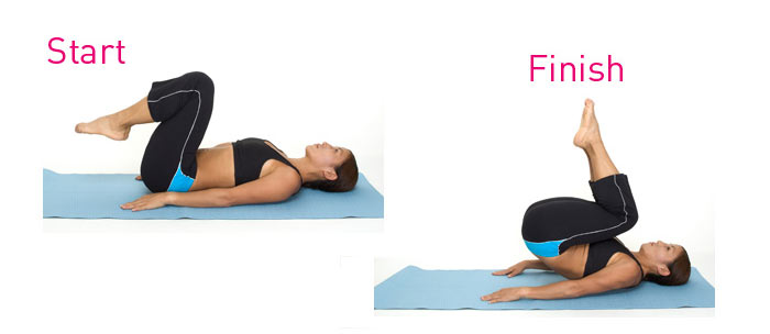 Reverse Crunches-Exercises to Lose Belly Fat- 10 Belly Fat Burning Exercises