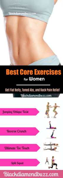 Best Core Exercises for Women - Get Flat Belly, Toned Abs, and Back Pain Relief