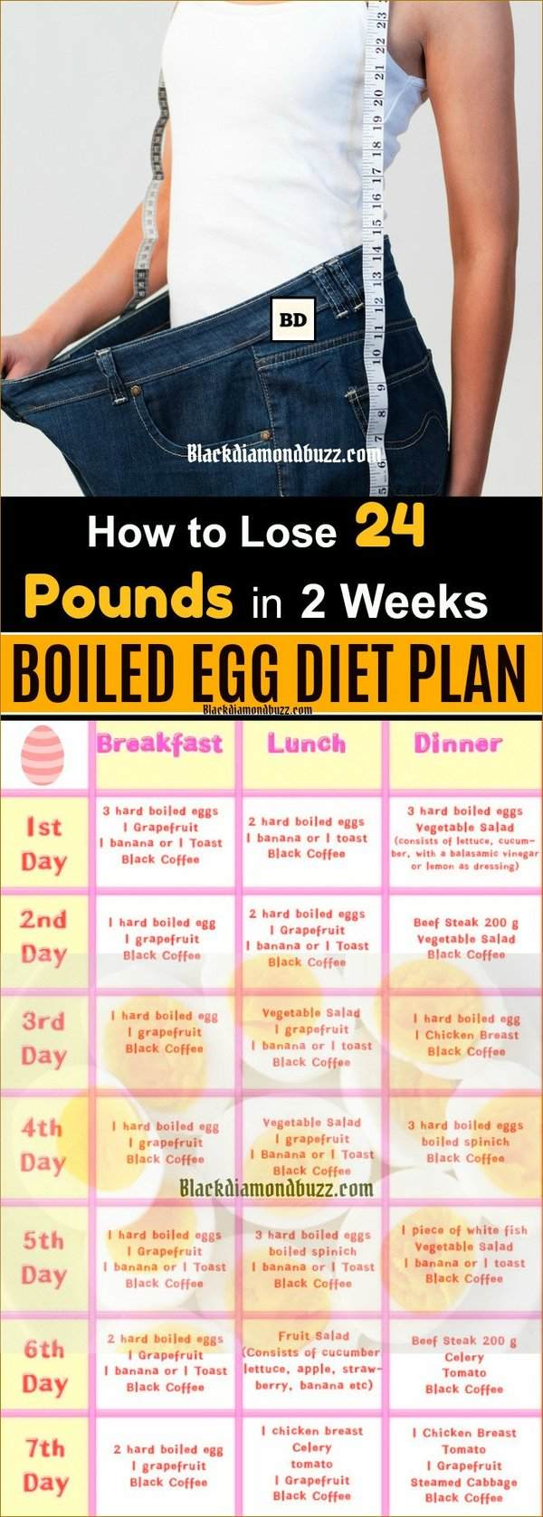 boiled egg diet 14 day lose 20 pounds