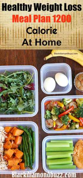 Healthy Weight Loss Meal Plan 1200 calorie