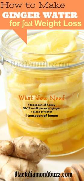 Ginger Water Recipe for Weight Loss, and Flat Belly: Lose 10 Pounds Fast