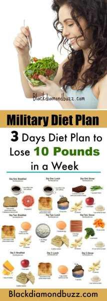 military diet meal plan 1 week