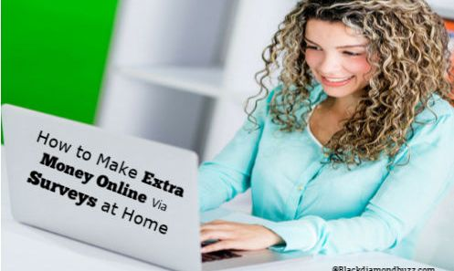 How to Make Extra Money Online Via Surveys at Home