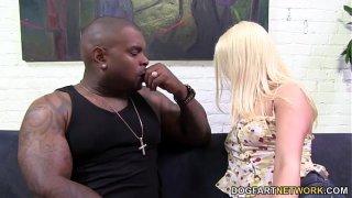 Kristen Jordan picks up a black guy and getting anal fucked