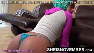 PRETTY BUBBLE BUTT TEEN WITH SEXY PETITE BODY MSNOVEMBER ASS GAPING BOOTYHOLE 18