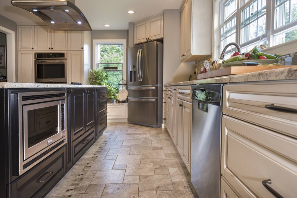 traditional warm kitchen remodel in amherst, nh
