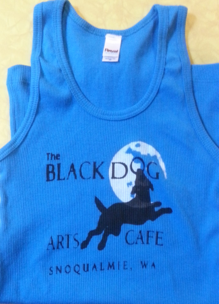 Black Dog Tank Tops Image