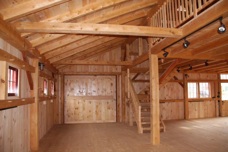 Timber Frame Barn Hartford Maine