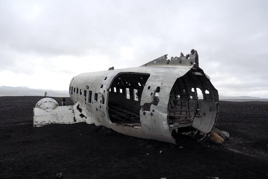 IJsland ringweg vliegtuigwrak Solheimasandur