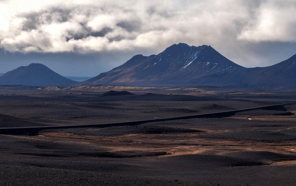IJsland ringweg naar het noorden