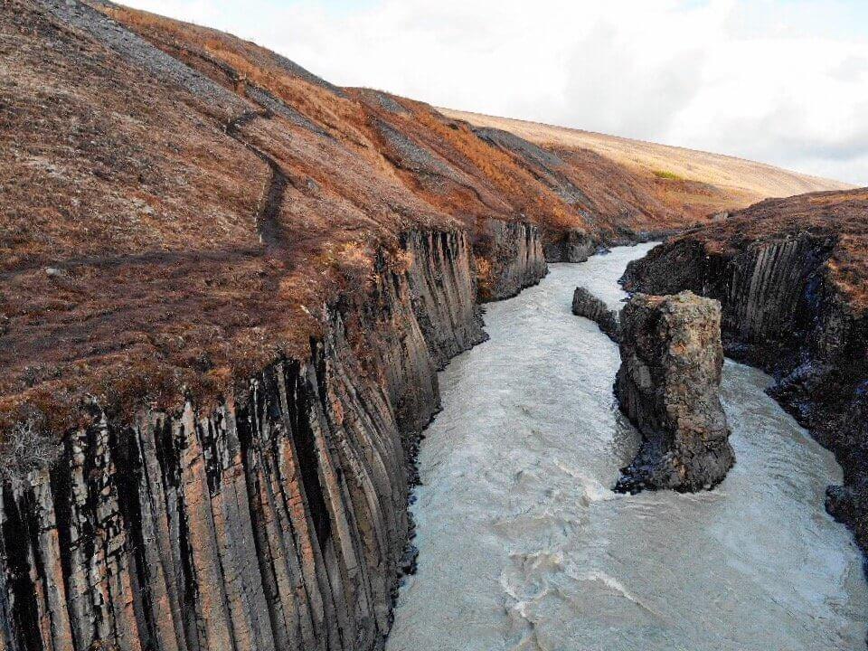 Studlagil Canyon Island