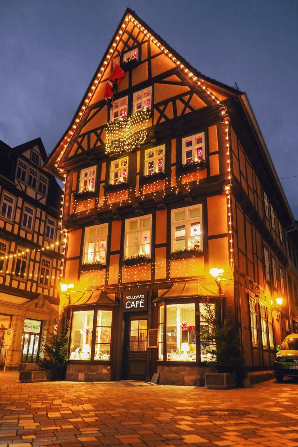 Quedlinburg oude stad Kerstmis