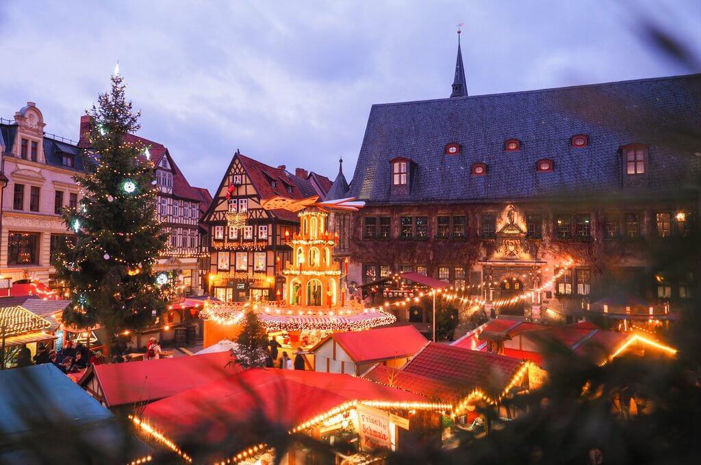Quedlinburg kerstmarkt hars
