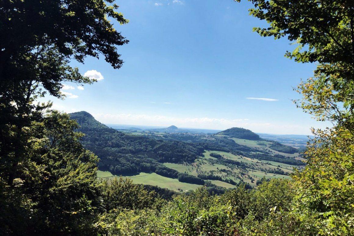 Dreikaiserberge uitzicht Kaltes Feld Schwäbisch Gmünd