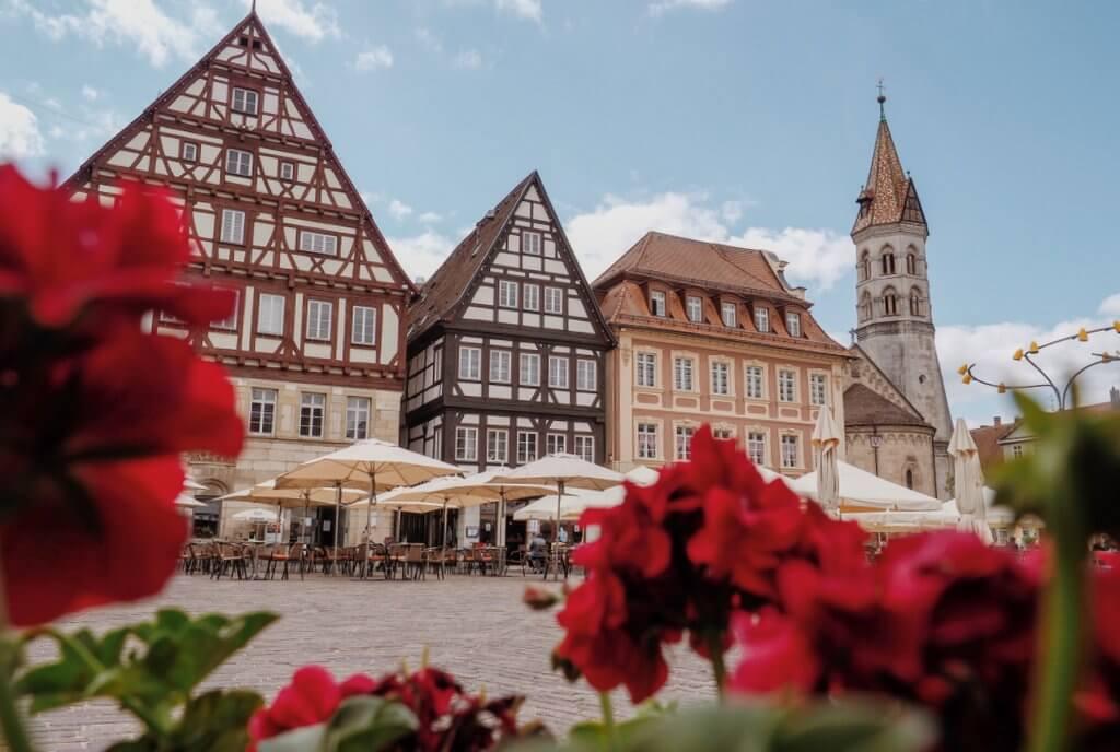 Oude stad Schwäbisch Gmünd marktplein