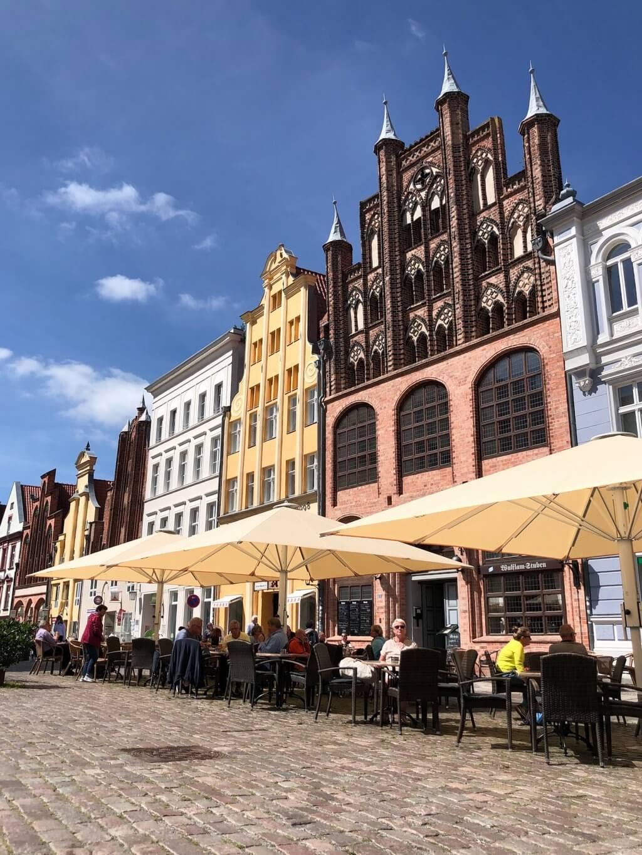 Oude markt van de oude stad van Stralsund