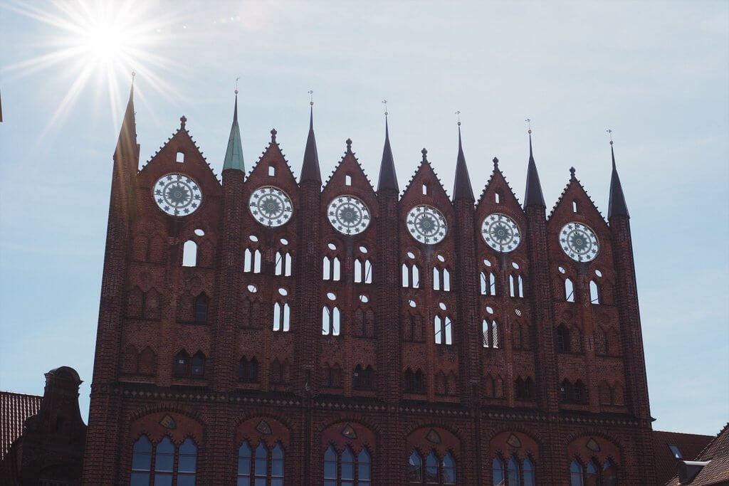 Stralsund stadhuis gevel