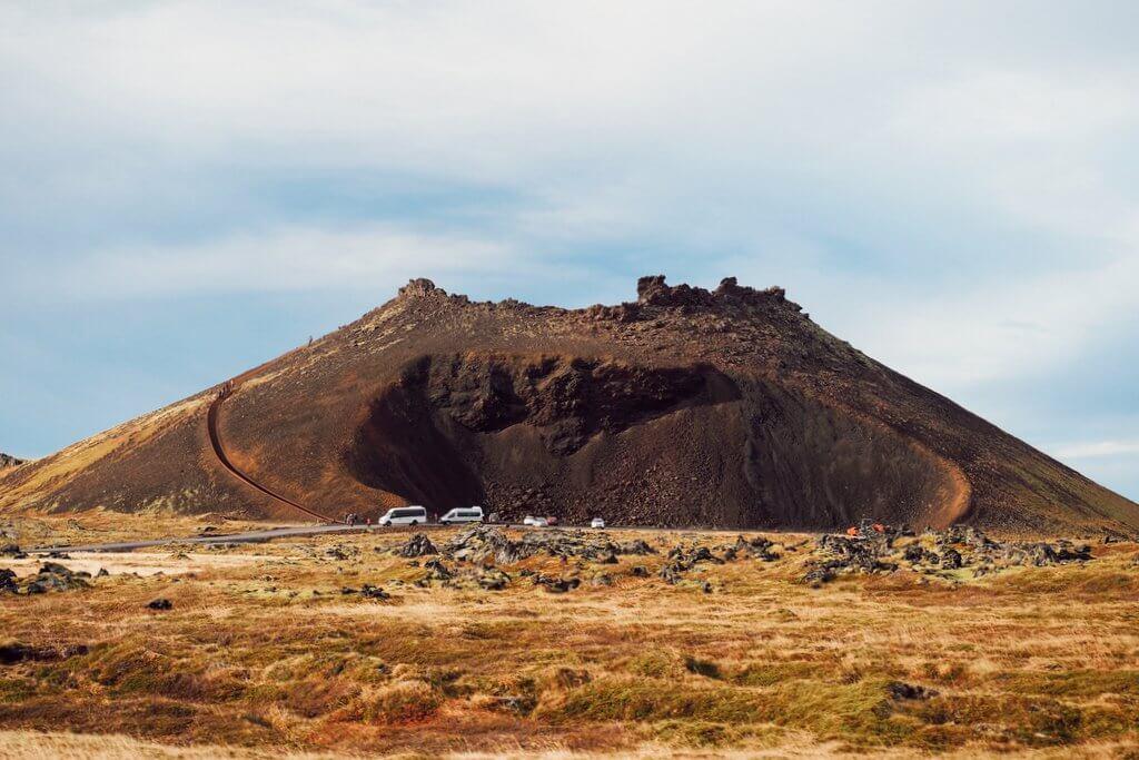 Nationaal Park Snaefellsjökull Krater van Saxholl