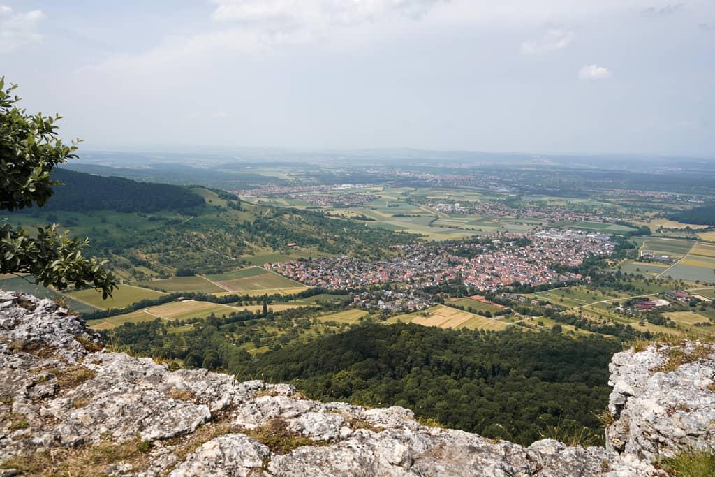 Breitenstein Schwaebischer Albtrauf uitzicht