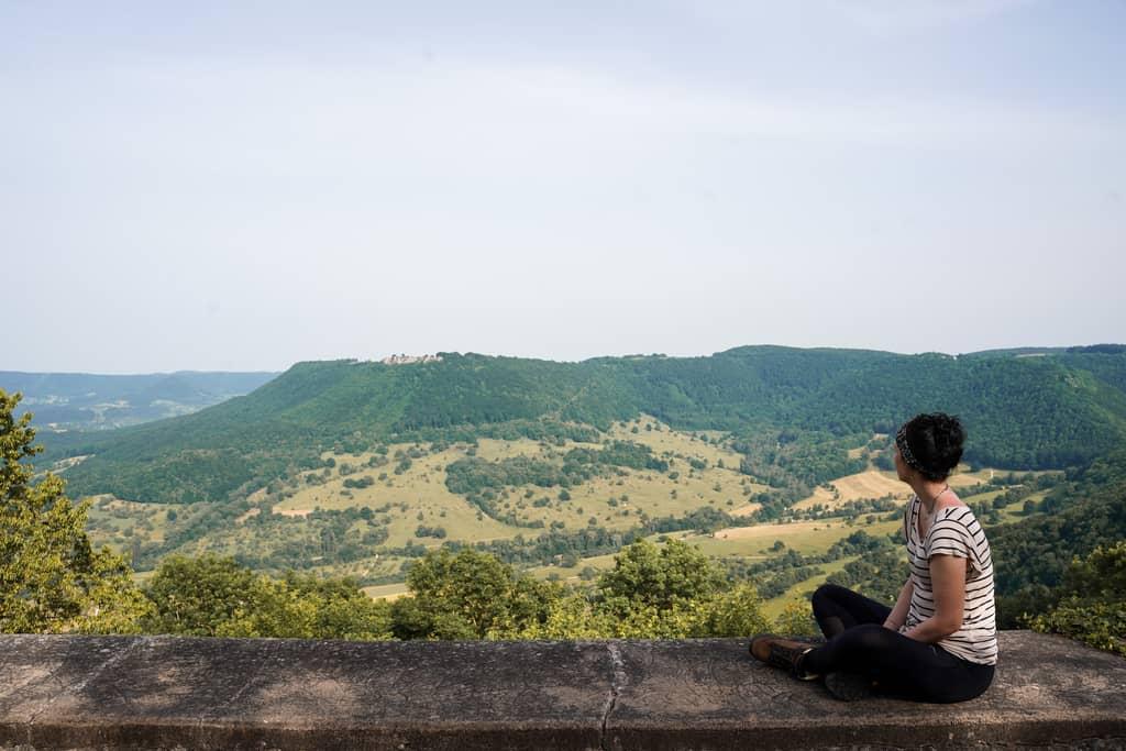 Uitzicht op kasteel Teck Castle