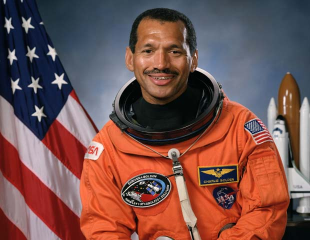 CHARLES F. BOLDEN JR., NASA Administrator: Nominated by President Barack Obama, retired Marine Corps Maj. Gen. Charles Frank Bolden, Jr., began his duties as the 12th Administrator of the National Aeronautics and Space Administration (NASA) in July 2009. In his post, he leads the NASA team and manages its resources to advance the agency's missions and goals. Bolden has a 34-year military career with the Marines, including 14 years as a member of NASA's Astronaut Office, making 4 space trips between 1986 and 1994, and serving as commander of two of the missions. Before joining NASA, he was also CEO of JACKandPANTHER L.L.C., a firm providing leadership, military and aerospace consulting, and motivational speaking.