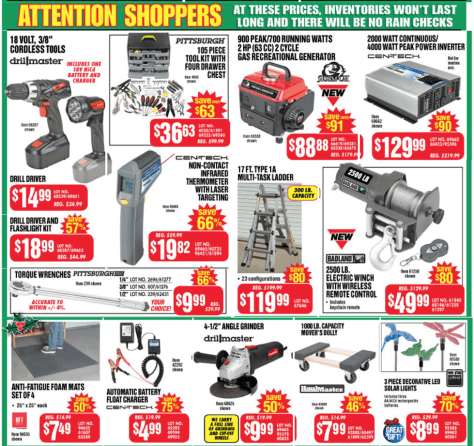 Harbor Freight Tools black friday ad scan - page 2