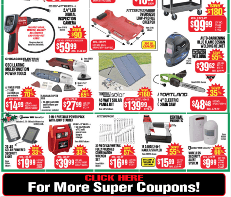 Harbor Freight Tools black friday ad scan - page 4