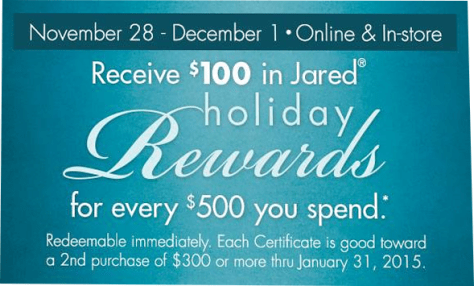 Jared Jewelers black friday ad scan - page 1