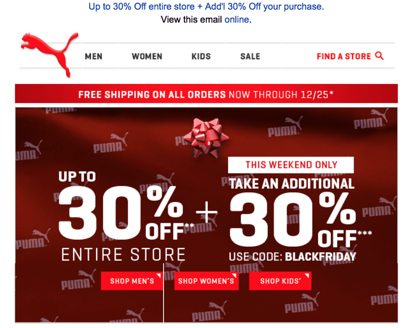 puma outlet store coupon 5qot  Page 1: Puma black friday ad scan