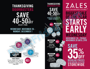 Zales black friday ad scan - page 1