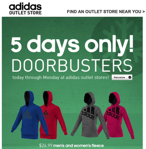 adidas outlet black friday ad scan - page 1