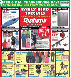 dunhams sports black friday ad scan - page 1