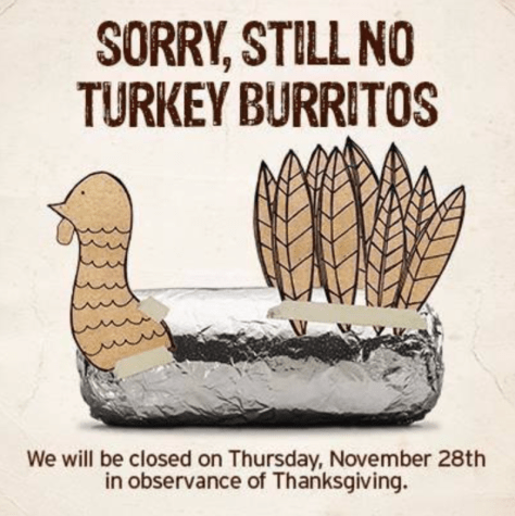 Chipotle black friday 2020