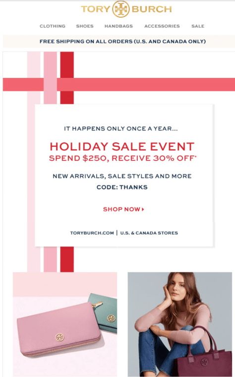 Tory Burch Cyber Monday 2015 Ad - Page 1