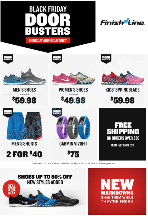 finish line black friday ad scan - page 1