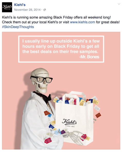 kiehls black friday ad scan - page 1