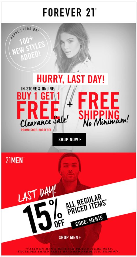 Forever 21 Labor Day Sale - Page 1