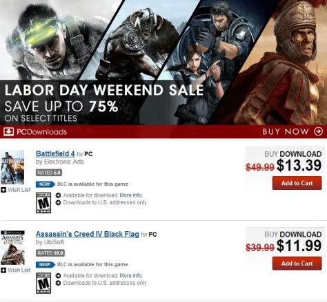 Gamestop Labor Day Sale - Page 1