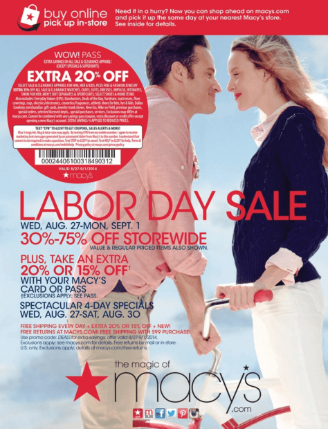 Macys Labor Day Sale - Page 1