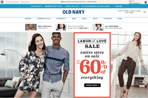 Old Navy Labor Day Sale 2015 - Page 1