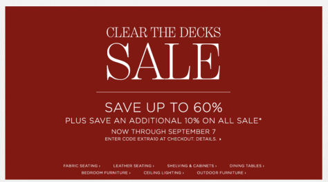 Restoration Hardware Labor Day Sale 2015 - Page 3