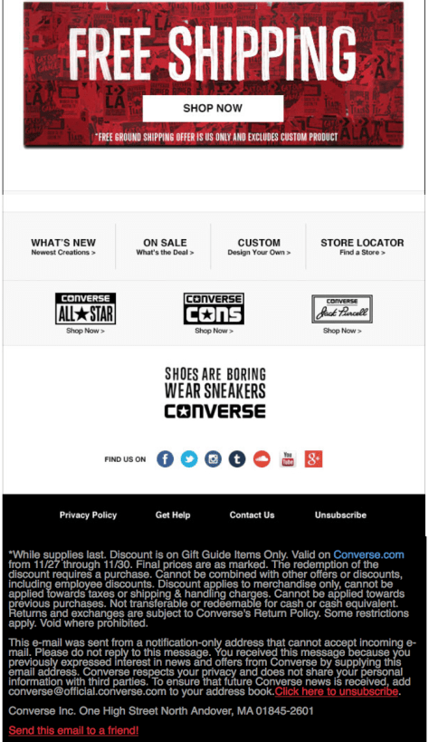 Converse Black Friday Ad - Page 2