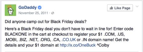GoDaddy Black Friday Ad - Page 2