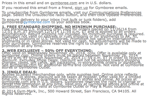 Gymboree Black Friday Ad - Page 3
