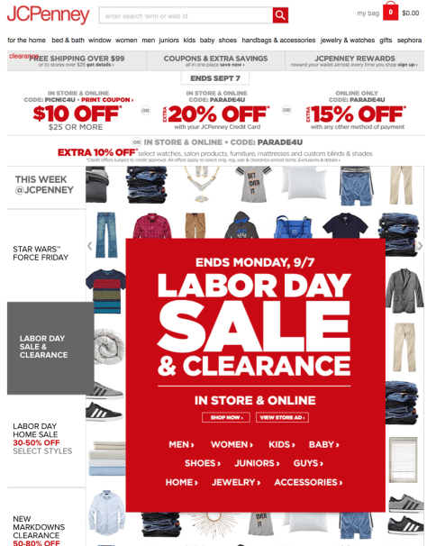 JC Penney Labor Day Sale 2015 - Page 1