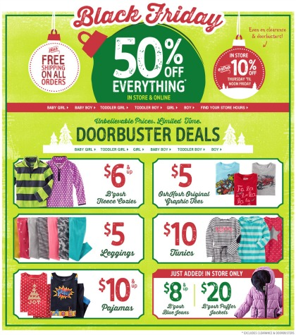 Osh Kosh Bgosh Black Friday Ad - Page 1