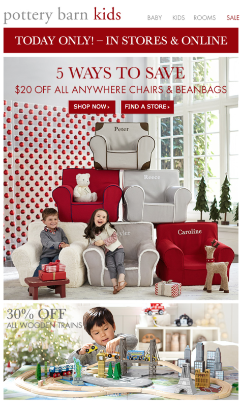 Pottery Barn Kids Black Friday Ad - Page 1